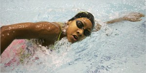 black swimmers