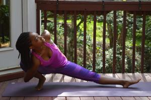 garland pose variation for yoga