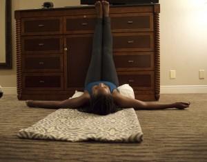 legs up the wall pose restorative yoga
