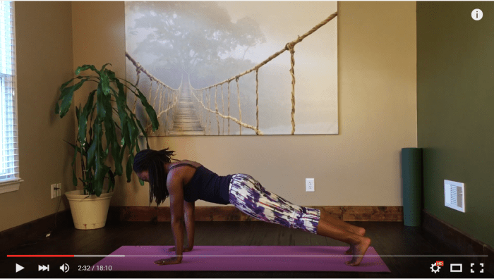 alignment for plank pose