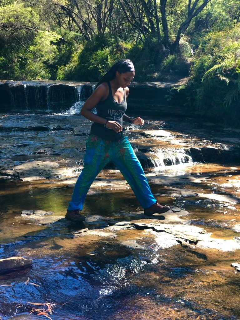 travel fitness tour of Wentworth Falls in Blue Mountains Australia
