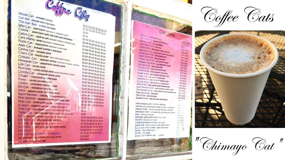 Coffee Cats menu and