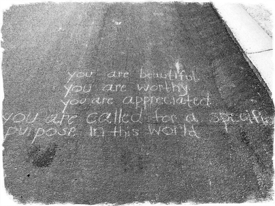 You are beautiful. You are worthy. You are appreciated. You are called for a specific purpose in this world. Encouraging photo © 2018 ericarobbin.com | All rights reserved.