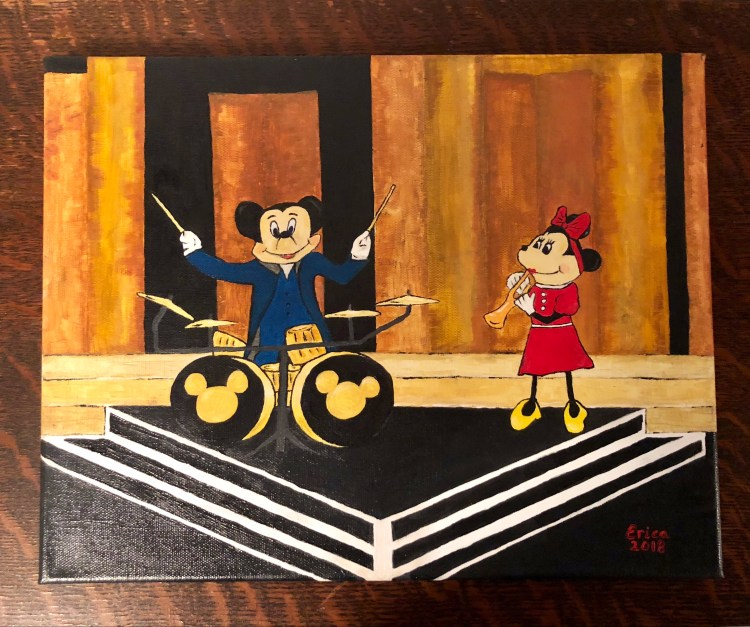 Mickey's 90th Birthday Spectacular oil painting © 2018 ericarobbin.com | All rights reserved.