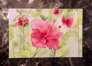 Hawaiian Dream watercolor painting © 2018 ericarobbin.com   All rights reserved