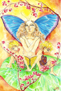 Metamorphosis, watercolor painting, photo courtesy of SillySallyMoon