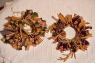 Christmas antler Mason ring wreaths © 2018 ericarobbin.com | All rights reserved.