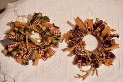 Christmas antler Mason ring wreaths © 2018 ericarobbin.com | All rights reserved.