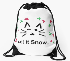 Let it Snow... Drawstring Bag © 2018 ericarobbin.com | All rights reserved.