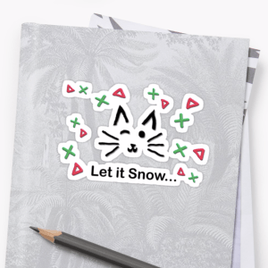 Let it Snow... Sticker © 2018 ericarobbin.com   All rights reserved.