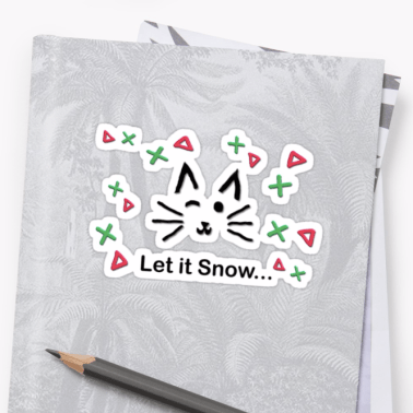 Let it Snow... Sticker © 2018 ericarobbin.com | All rights reserved.