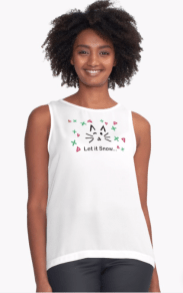 Let it Snow... Contrast Tank © 2018 ericarobbin.com | All rights reserved.