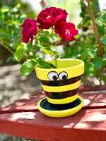 Bee Terra Cotta Flower Pot © 2019 ericarobbin.com | All rights reserved.