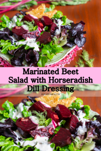 Marinated Beet Salad with Horseradish Dill Dressing © 2018 ericarobbin.com   All rights reserved.