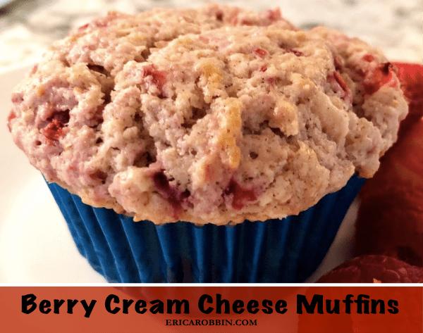 Berry Cream Cheese Muffins © 2018 ericarobbin.com
