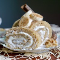 Banana Cake Swiss Roll