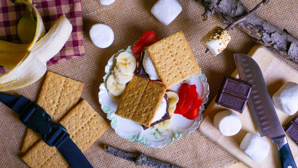 Nintendo Game Inspiration: S'mores from Overcooked! Strawberry and Banana S'mores   Erica Robbin