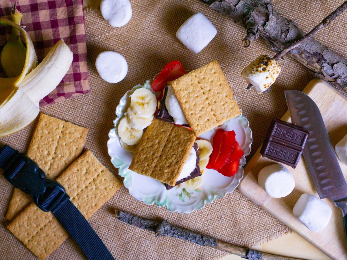 Strawberry and Banana S'mores | Erica Robbin