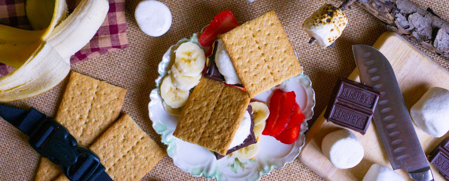 Nintendo Game Inspiration: S'mores from Overcooked! Strawberry and Banana S'mores | Erica Robbin