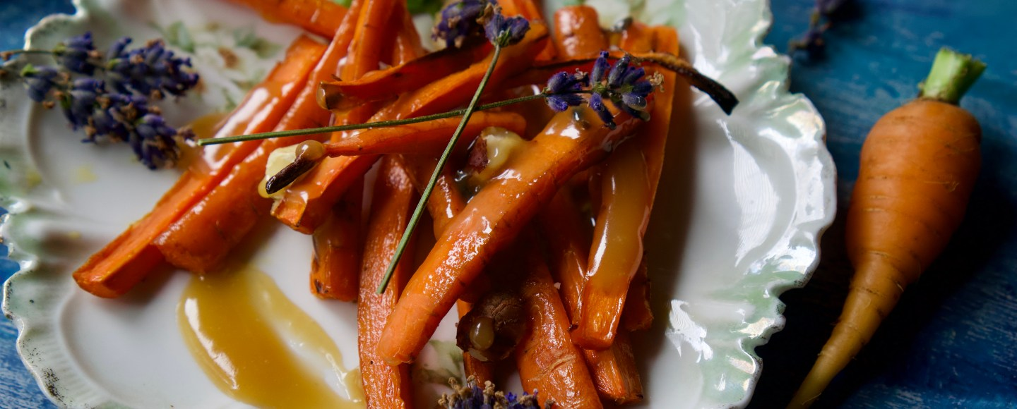 Roasted Carrots with Lavender Caramel   Erica Robbin