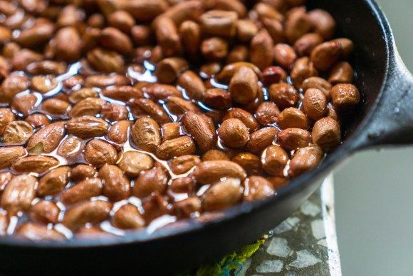 Cooking Glazed Spanish Peanuts | Erica Robbin