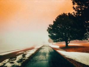 Road Into Fog, Nebraska | Erica Robbin