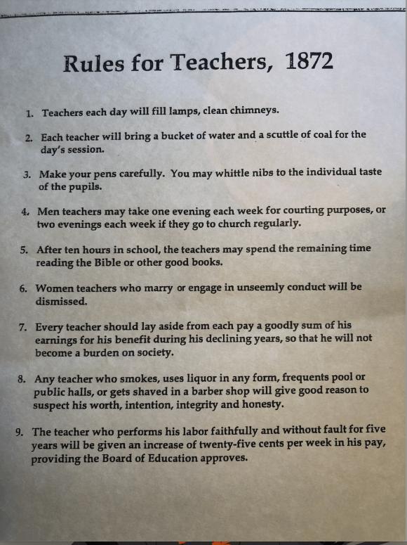 1872 School Rules | Erica Robbin