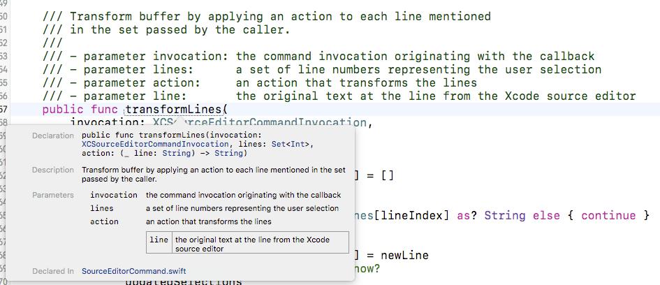Xcode 8 Document Coding Enhancements — Erica Sadun