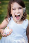 child donut face portrait wedding granlibakken Tahoe City CA