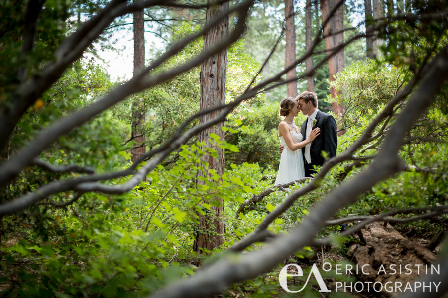 Karly & Mark share a private moment along the nature trail.