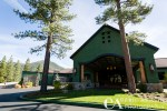 Facade of Martis Camp Lodge. Wedding venue Truckee, CA