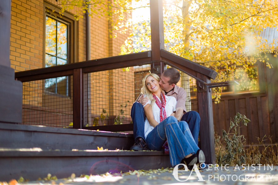 For your ears only.  Jenna and Trent.  Downtown Truckee, CA engagement session