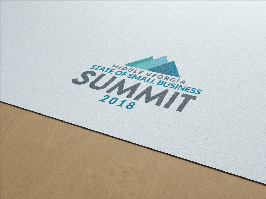 logo design for Middle Georgia Small Business Summit shown on a letterhead
