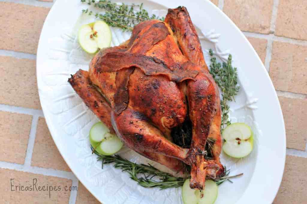 Apple Cider and Beer-Brined, Holiday Turkey with AppleJack Giblet Gravy