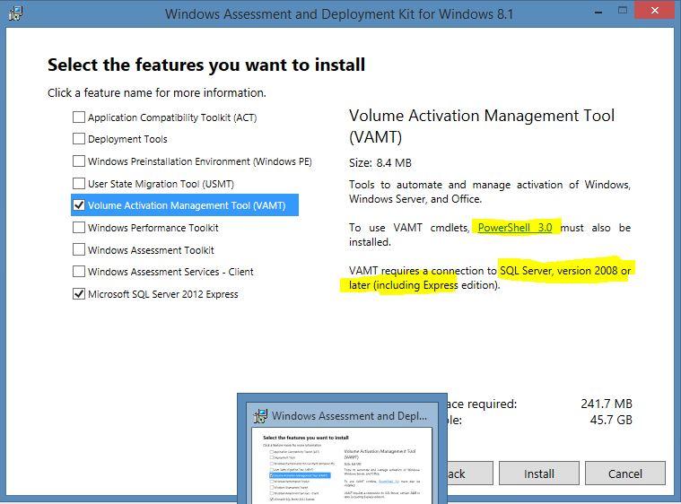 Blogserie: VAMT - Volume Activation Management Tool 3.1 (Teil 2/3) - Installation (4/4)