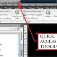 AutoCAD Civil 3D Surveying Quick Tips and Tricks: Add Ribbon Menu Items To The Quick Access Toolbar