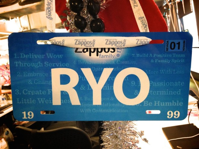 zappos-license-plate-name-badge