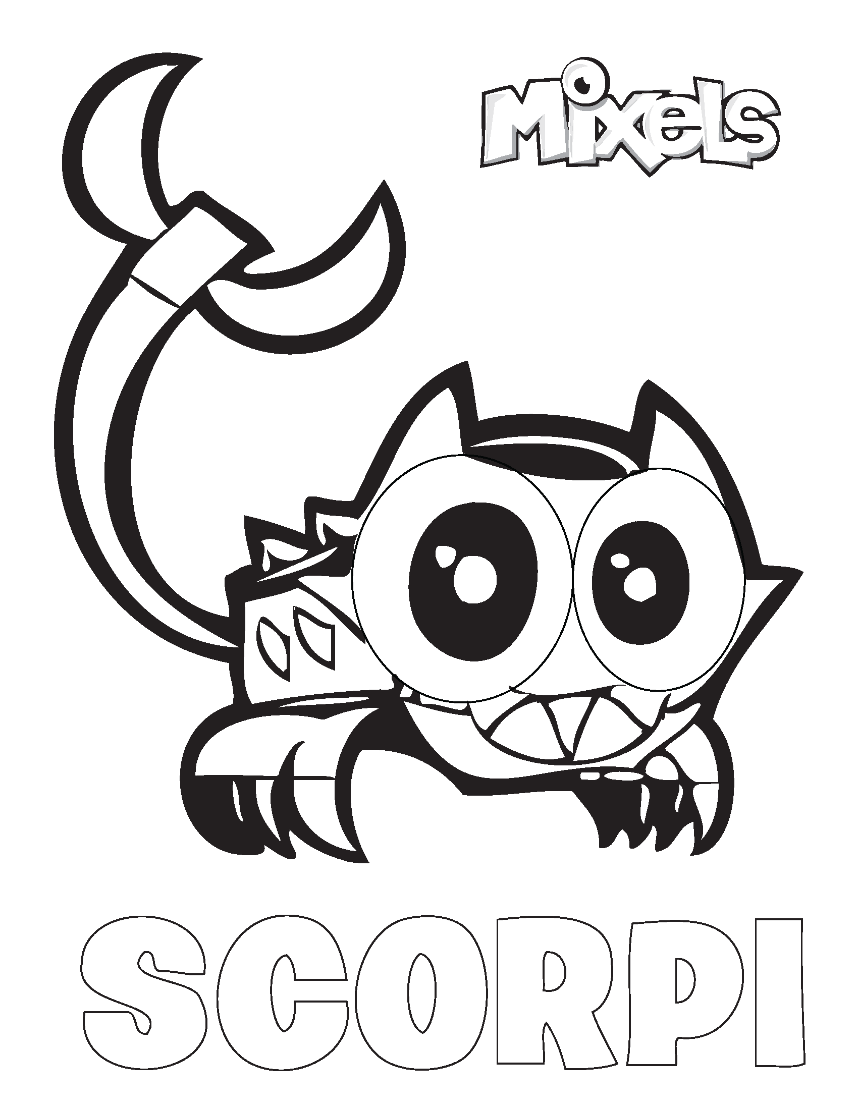 lego mixels coloring pages - spikels tribe my little corner