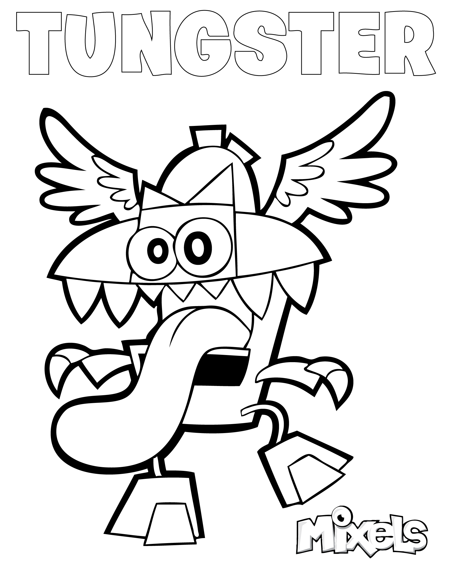 Mixels Coloring Page