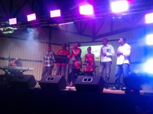 master key, charlene stewart, imani campbell perform a christmas concert at the puerto viejo multicentro