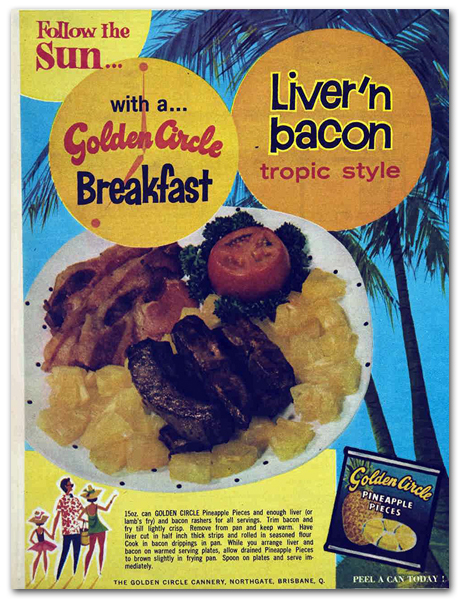 Liver 'n Bacon Tropic Style