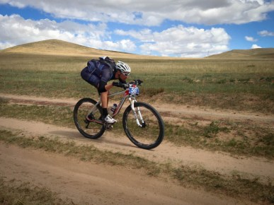 Erich Wegscheider at the 2013 Mongolia Bike Challenge.