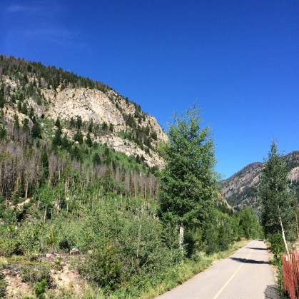 Running Trail Outside of Frisco, CO