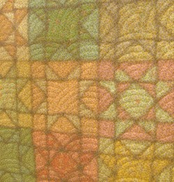 translucent patchwork and quilting