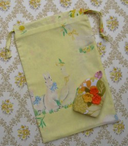primrose bunny fabric bag