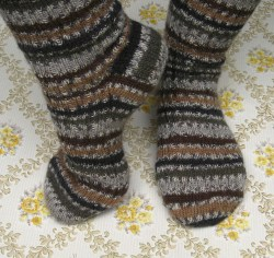 WYS Owl socks for Anne