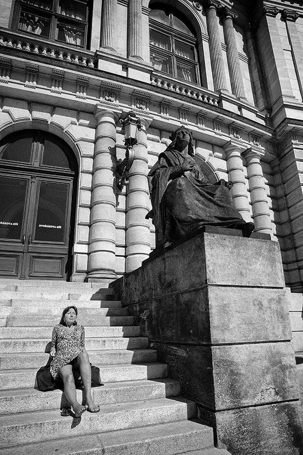 Sunbathing. Prague, 2009