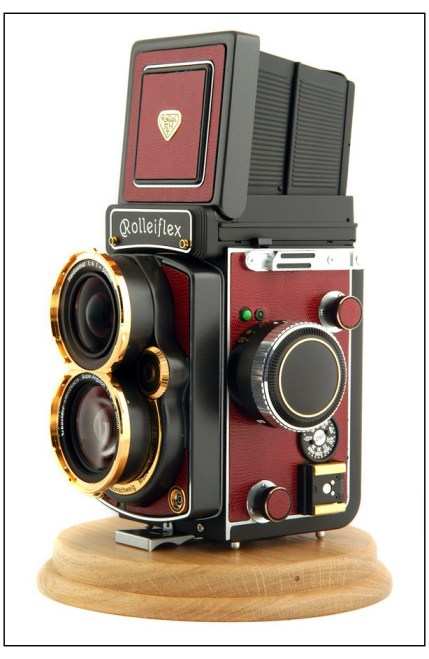 Beautiful Picture of a Rolleiflex in Gold