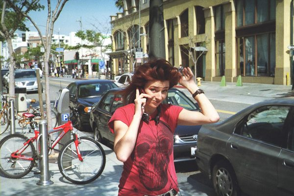 """Girl in Red"" - Santa Monica Street Photography by Eric Kim"
