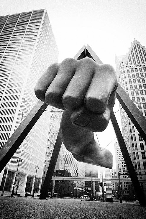 The fist of detroit eric kim street photography with black and white